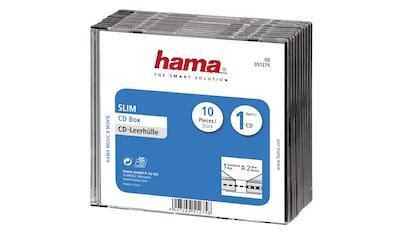 Hama CD - Leerhülle Slim, 10er - Pack, Transparent/Schwarz »Leerhülle« kaufen