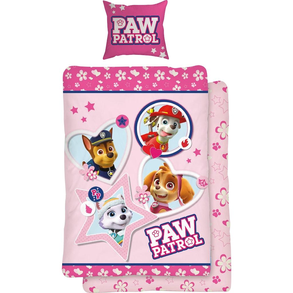 PAW PATROL Jugendbettwäsche »Girly Paws«