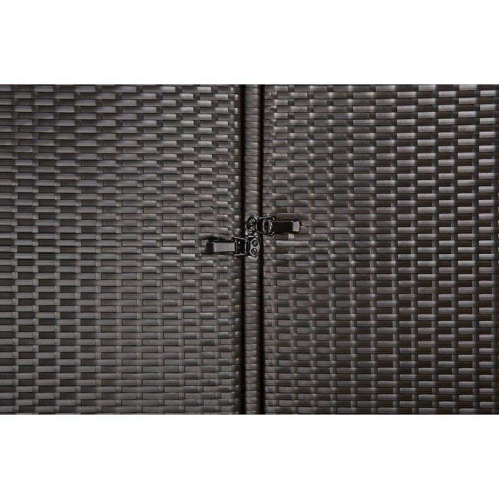 HANSE GARTENLAND Mülltonnenbox, für 3x120 l aus Polyrattan, BxTxH: 189x66x109 cm