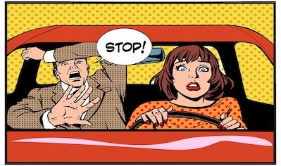 Papermoon Infrarotwandheizung »Comic Menschen im Auto«, sehr angenehme Strahlungswärme kaufen
