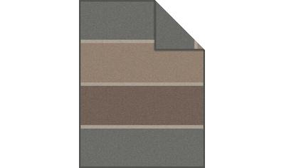 IBENA Wohndecke »Jacquard Decke Vogar«, mit dezentem Streifenmuster kaufen
