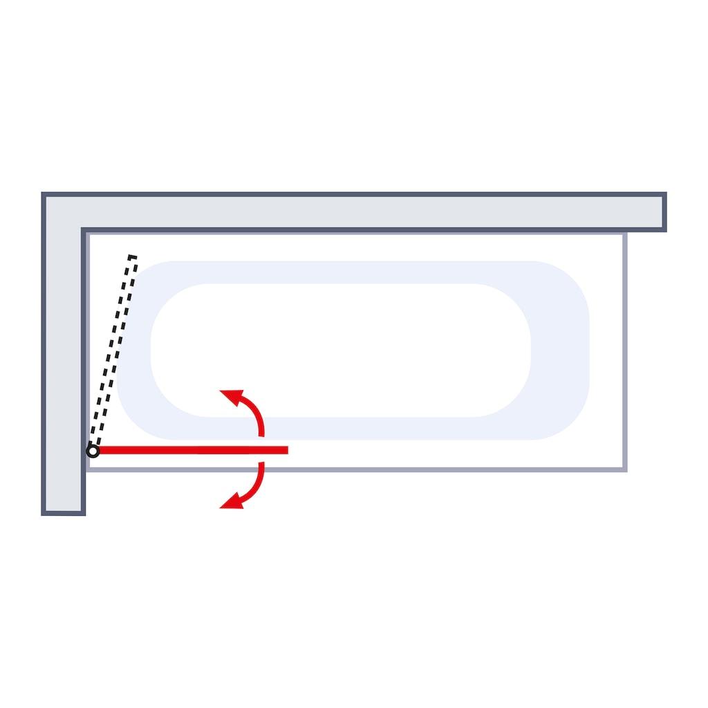 Schulte Badewannenfaltwand »Komfort«, Breite: 80 cm