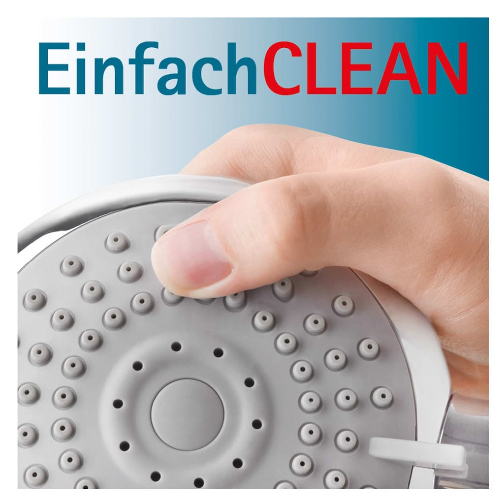 Schulte Duschsystem »EP DuschMa Cl Einhebelm Kopfb rund«, Tiefe: 41,9-43,6, mit Antikalk-Noppen