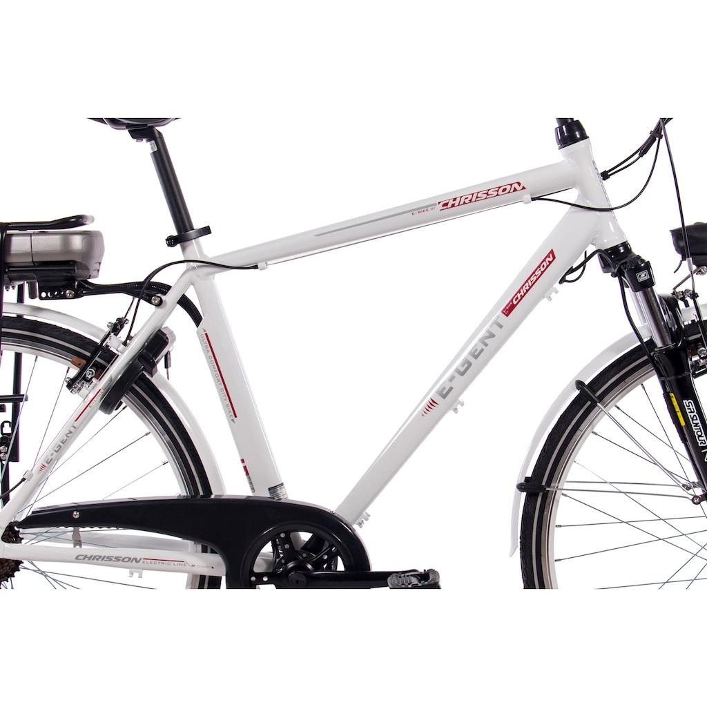 Chrisson E-Bike »E-Gent«, 7 Gang, Shimano, Acera RD-M360-SGS, Frontmotor 250 W
