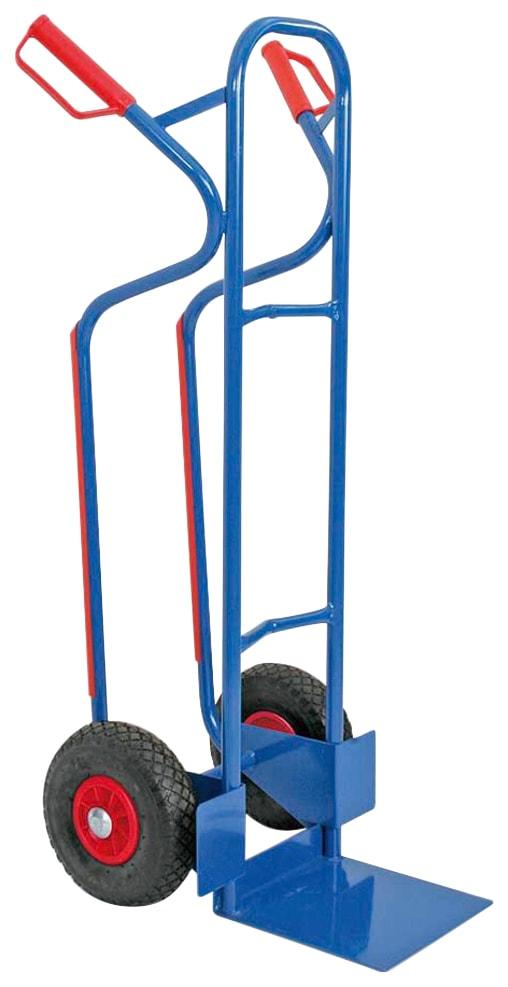 Sackkarre, BxTxH 520x550x1200 mm, Tragkraft 250 kg blau Sackkarren Transport Werkzeug Maschinen Sackkarre
