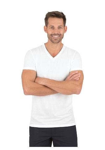Trigema V-Shirt aus 100% Lyocell kaufen