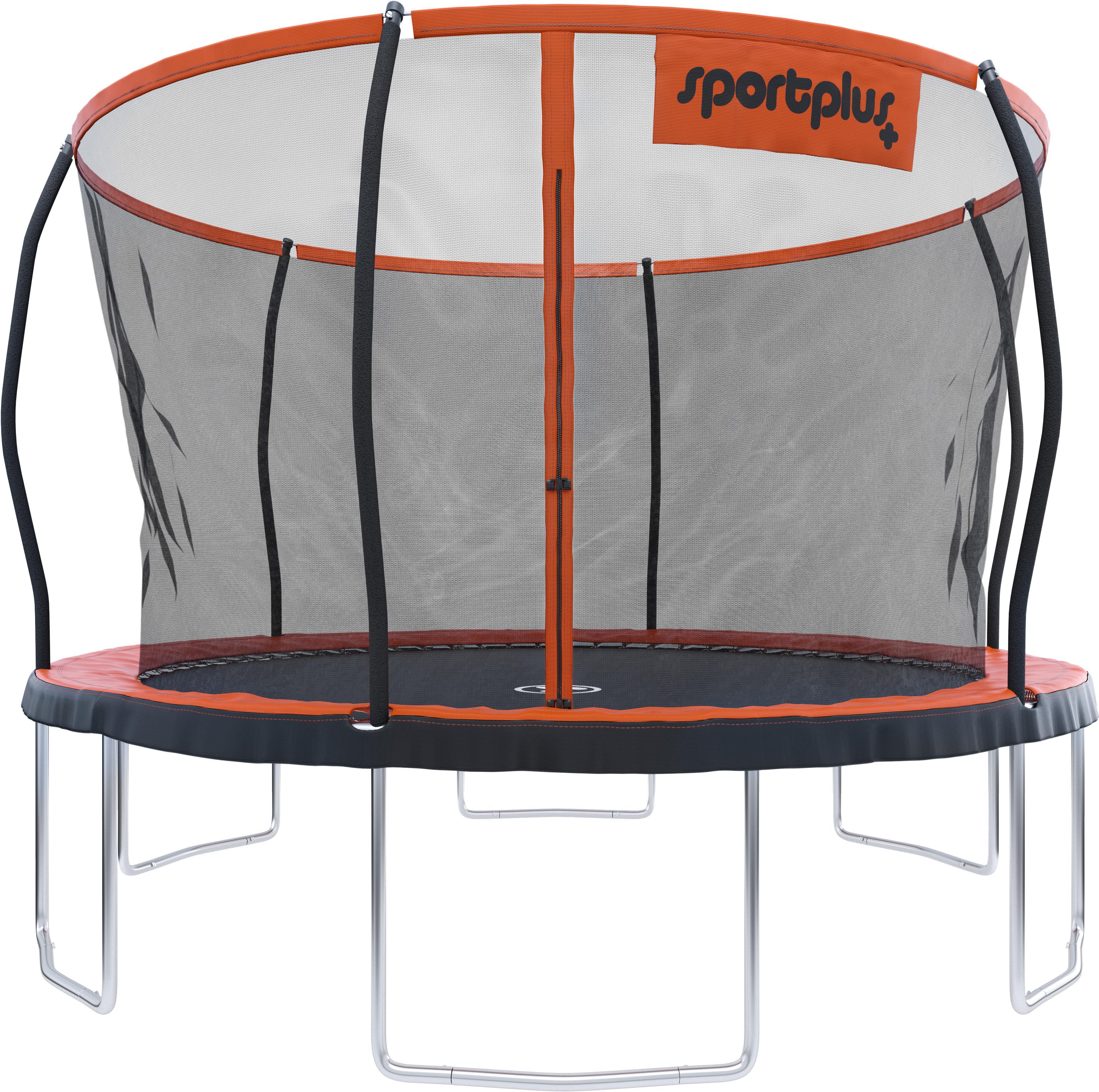 SportPlus Gartentrampolin SP-T-366 orange Fitness Ausrüstung Sportarten Trampolin