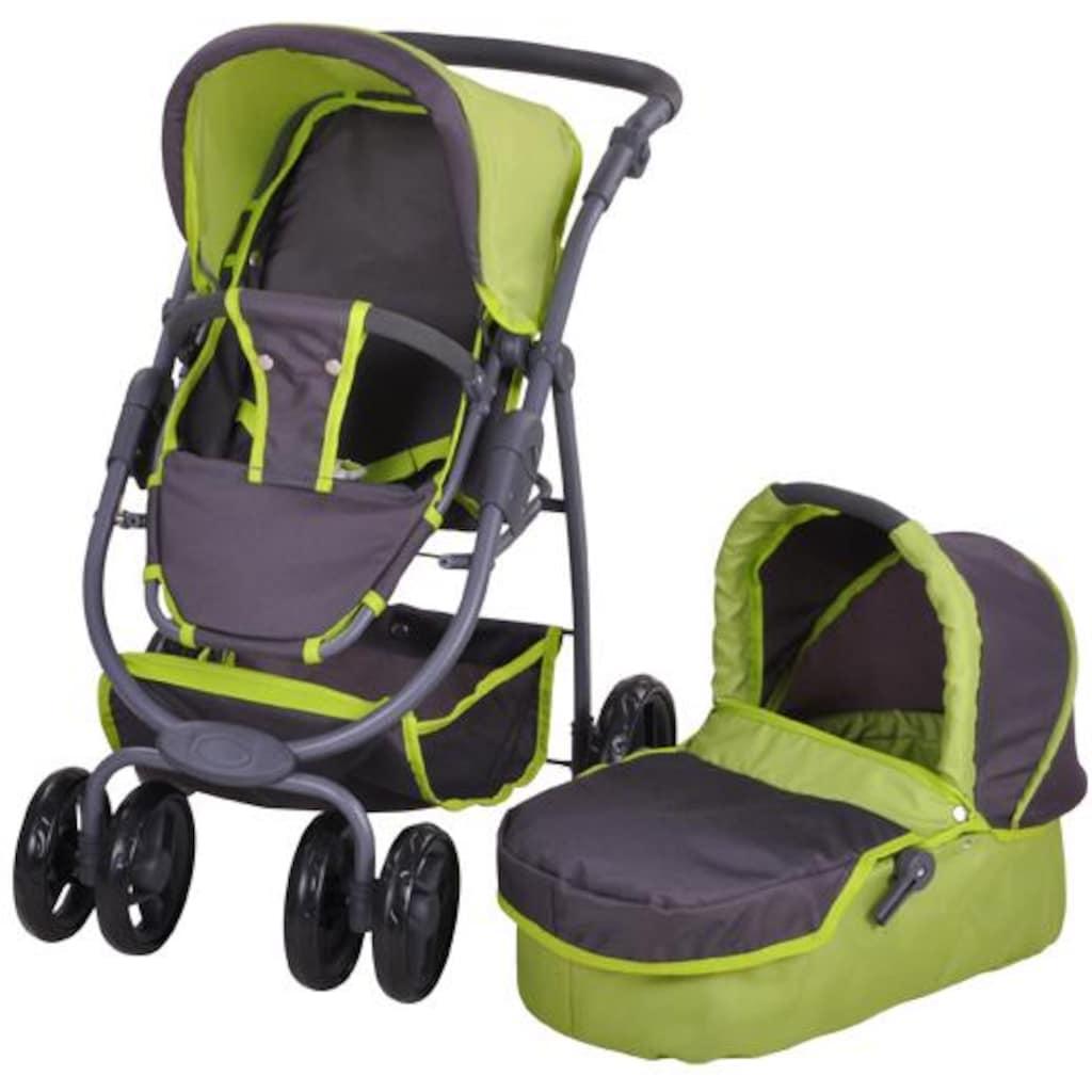 Knorrtoys® Puppenwagen »Coco - tec green«, 2-in-1