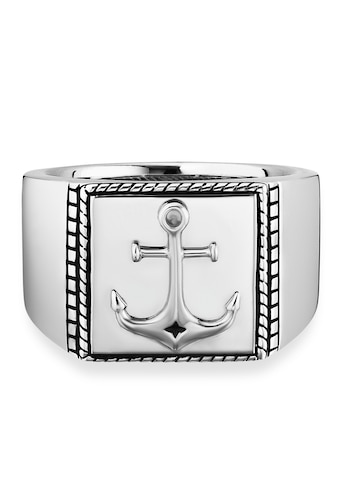 CAÏ Fingerring »925/- Sterling Silber rhodiniert Anker«, Ring kaufen