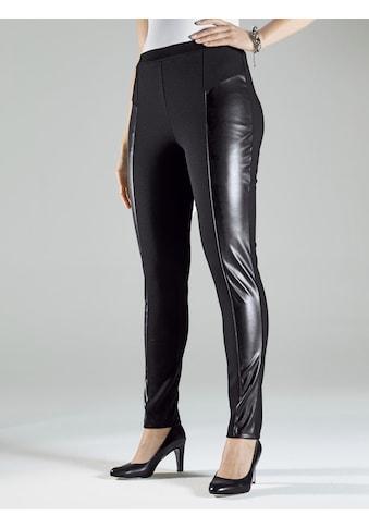 m. collection Jerseyhose, mit Lederimitateinsätzen kaufen
