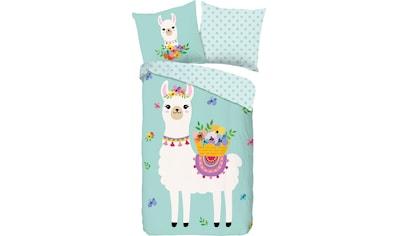 good morning Kinderbettwäsche »Llama«, mit Lamas kaufen