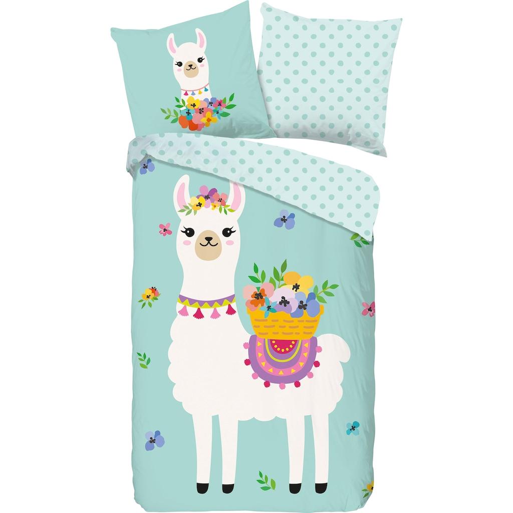 good morning Kinderbettwäsche »Llama«, mit Lamas