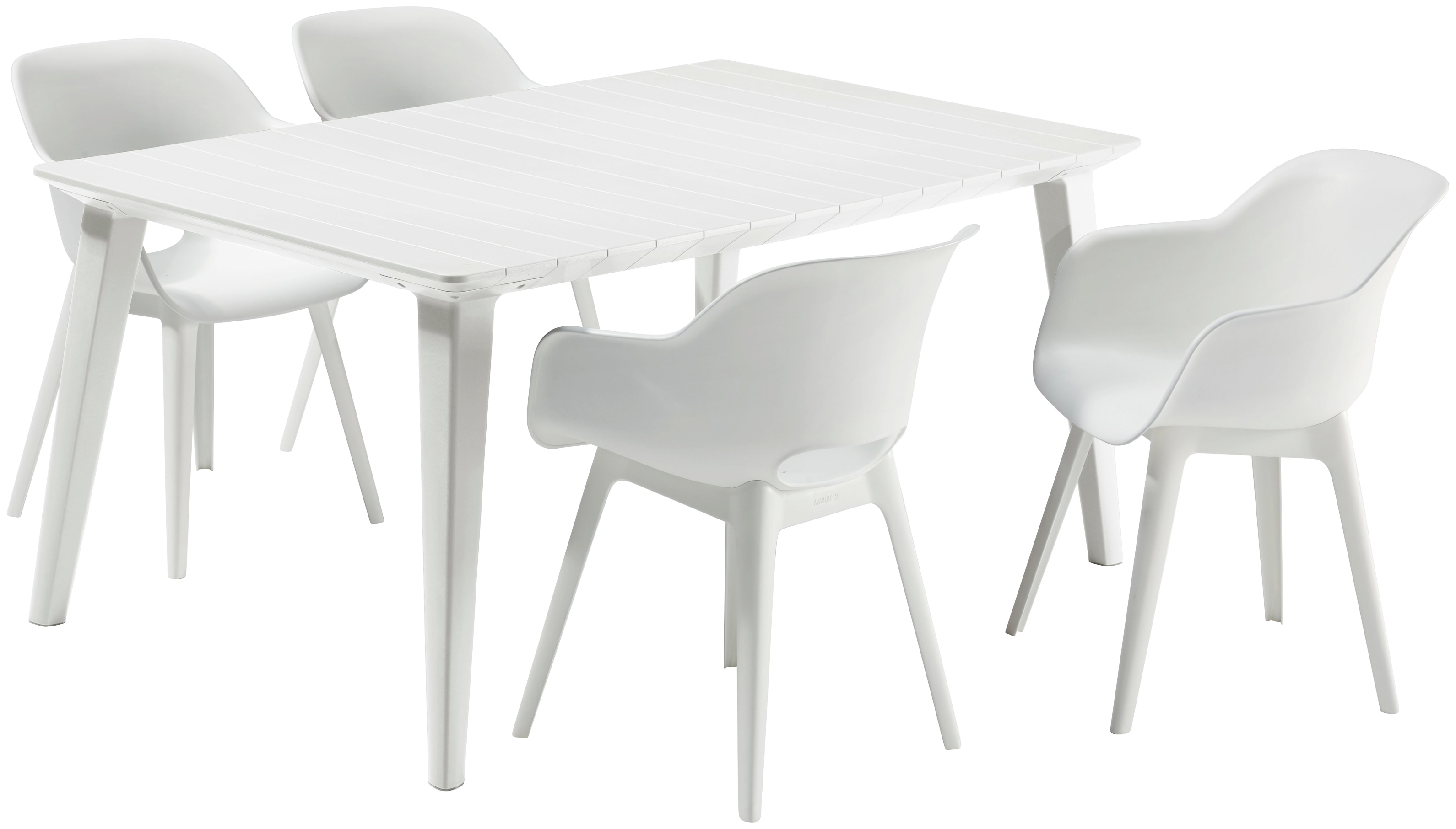 BEST Gartenmöbelset Split 4 Sessel Tisch 157x98 cm