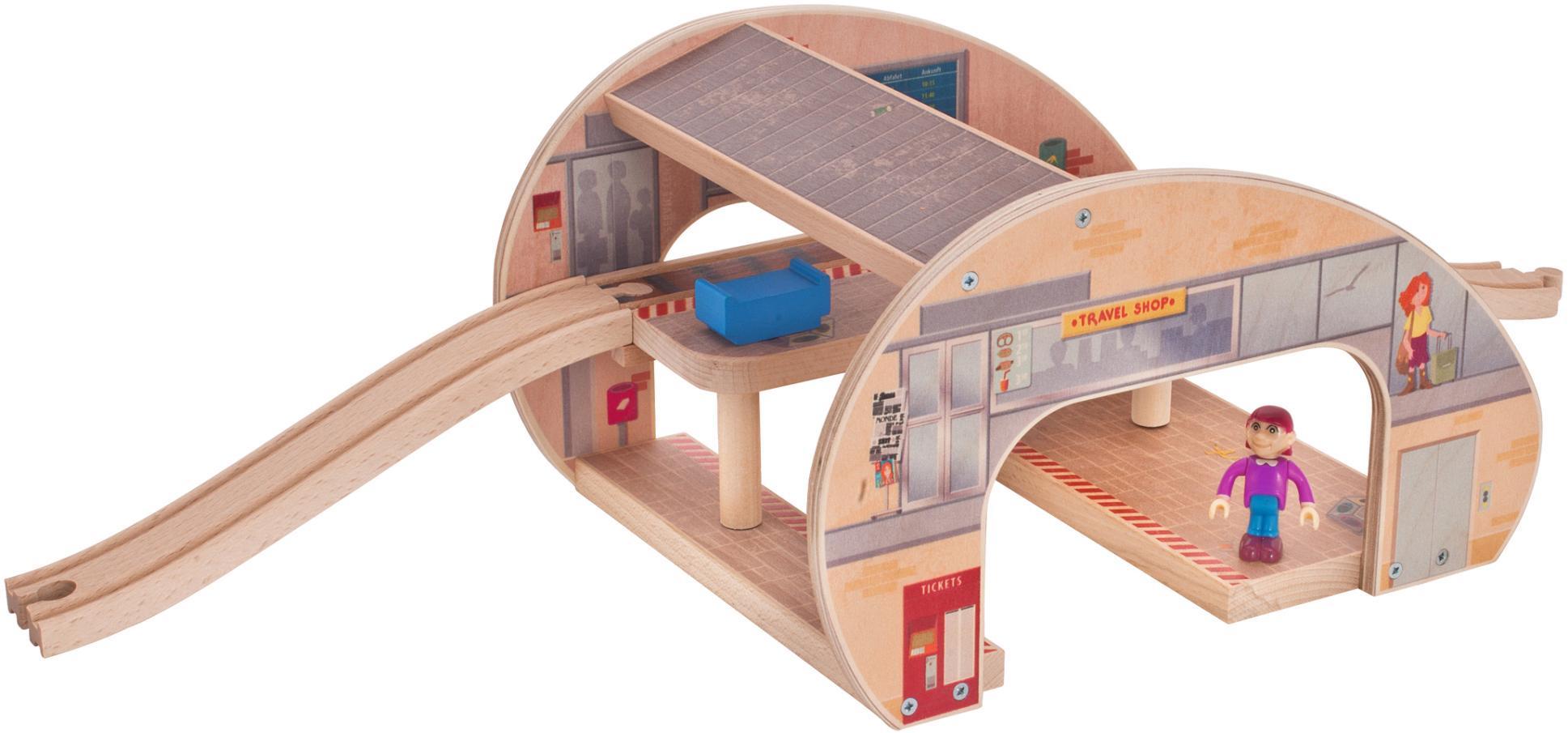 Eichhorn Schienenbahnset aus Holz, »Großer Bahn...