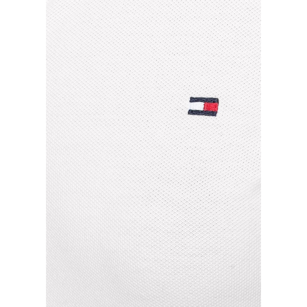 TOMMY HILFIGER Poloshirt »HERITAGE LONG SLEEVE SLIM POLO«, mit kleiner Knopfleiste & Tommy Hilfiger Logo-Flag