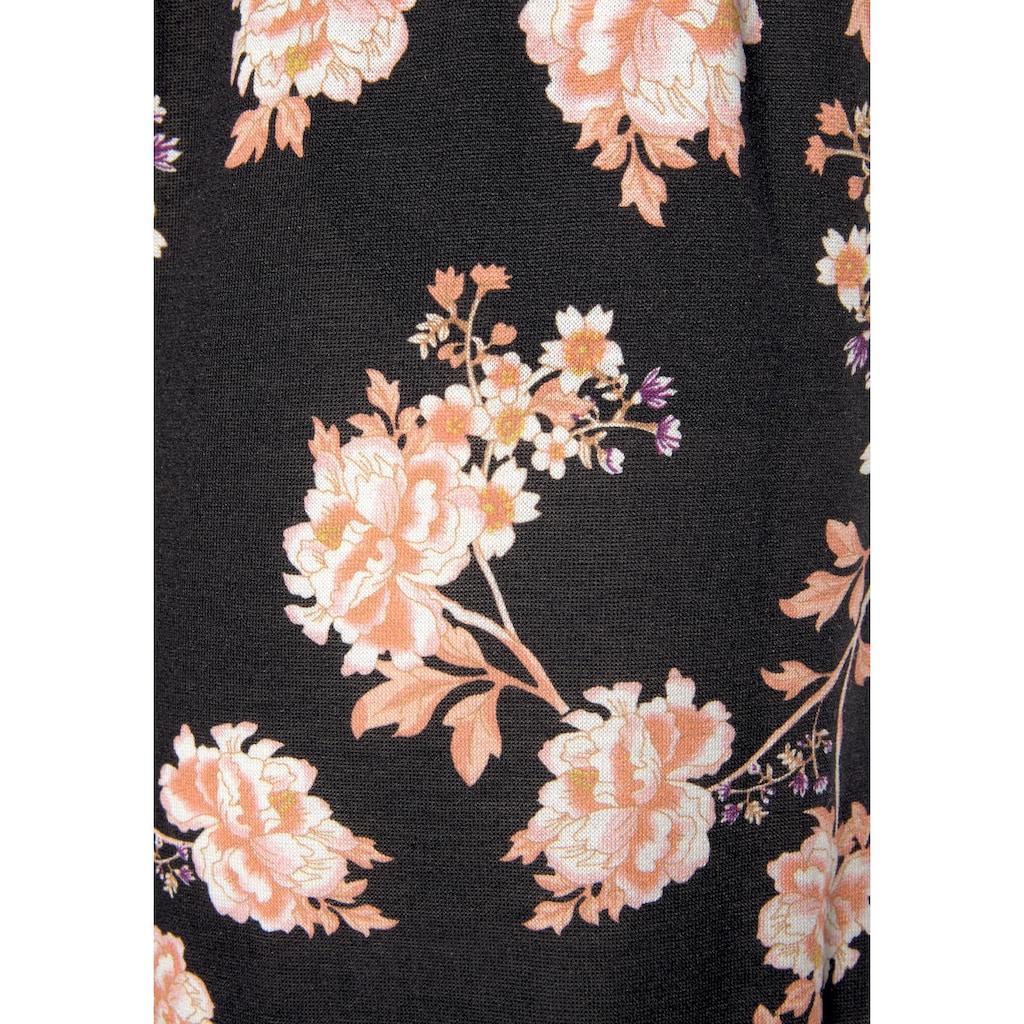 LASCANA Strandhose, mit floralem Alloverdruck