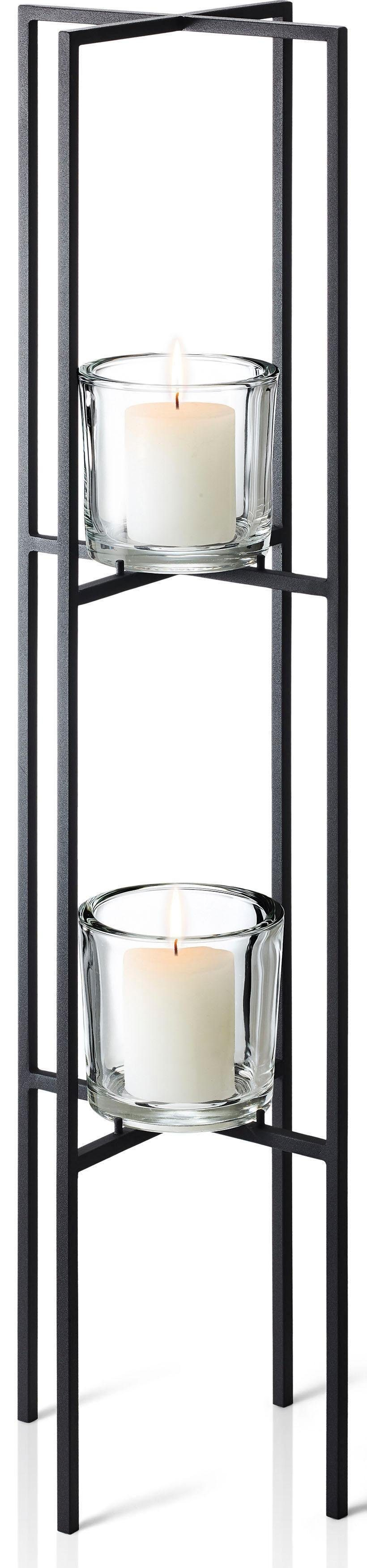 BLOMUS Kerzenständer NERO schwarz Kerzenhalter Kerzen Laternen Wohnaccessoires