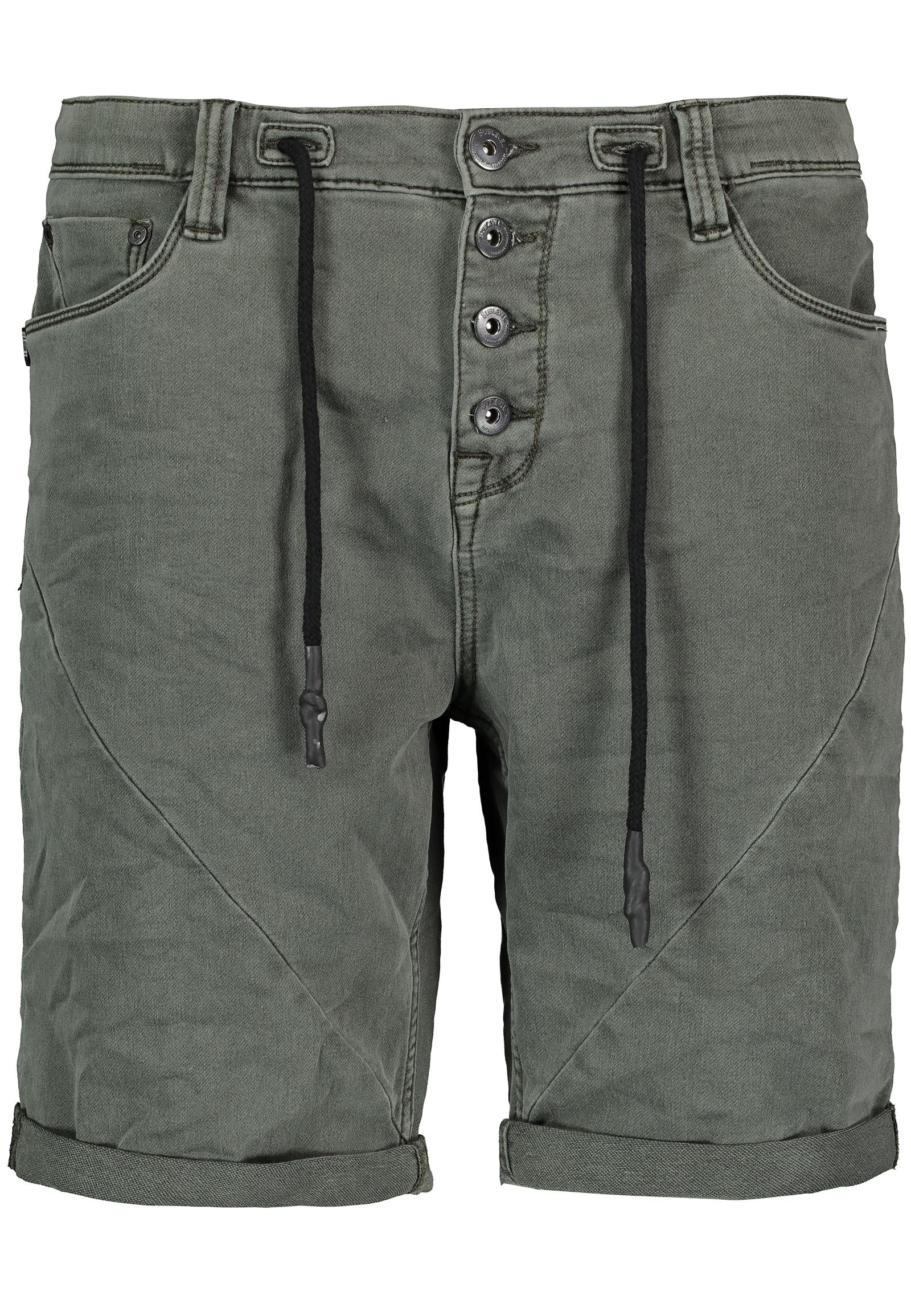 SUBLEVEL Sweatjeansbermudas | Bekleidung > Shorts & Bermudas > Jeans Bermudas | Grün | Sublevel