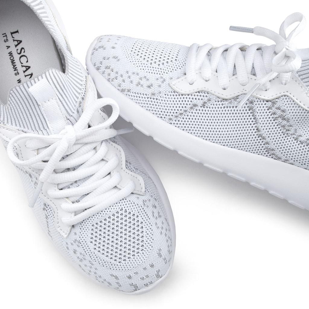 LASCANA Sneaker, in modischer Meshoptik und mit bequemer Innensohle
