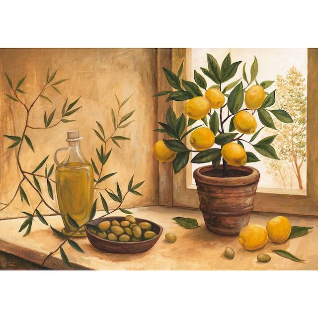 Home affaire Kunstdruck »A. S.: Olive and lime«, 99/69 cm