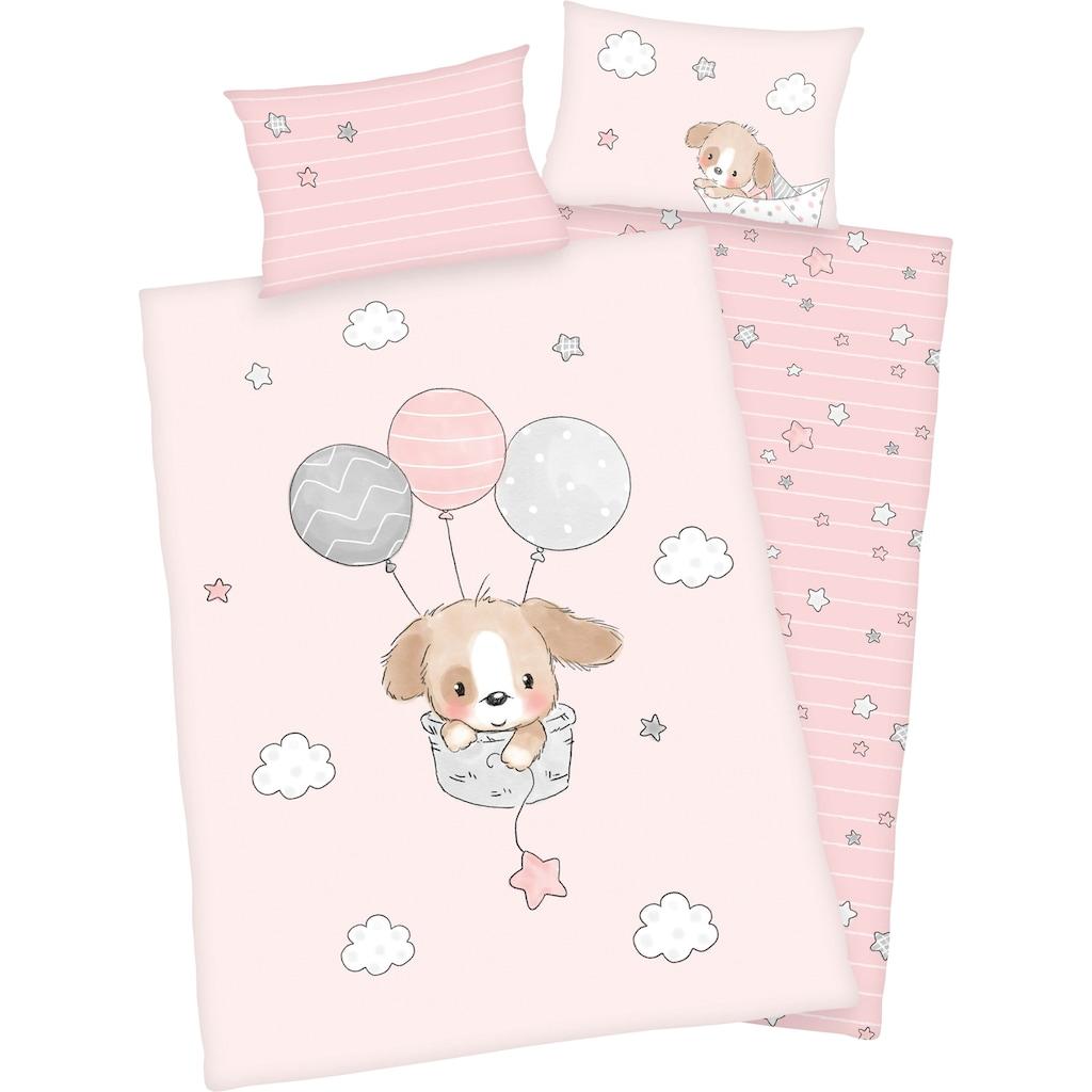 Baby Best Babybettwäsche »Sleeping little bear«, mit niedlichem Motiv und liebevollem Schriftzug