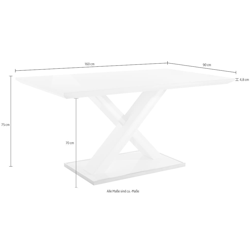 Homexperts Esstisch, Breite 120, 140 oder 160 cm