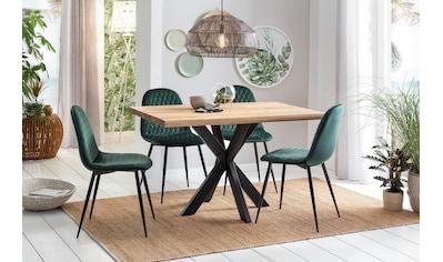 Home affaire Esstisch »Tristan«, mit modernem Spider Gestell und Baumkante kaufen
