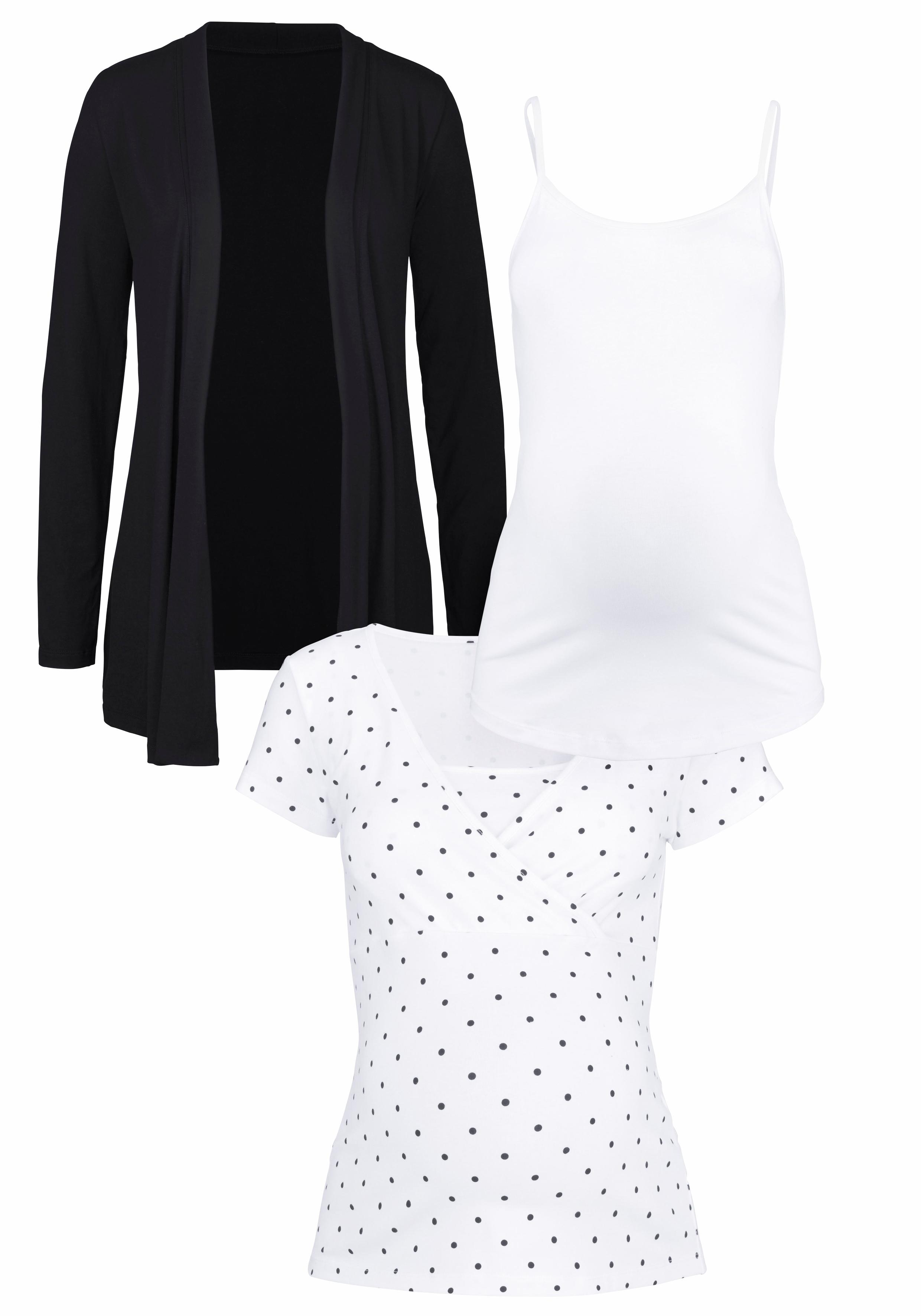 Neun Monate Umstands-Set (Set 3 tlg) Damenmode/Bekleidung/Umstandsmode/Umstandsshirts/Tops