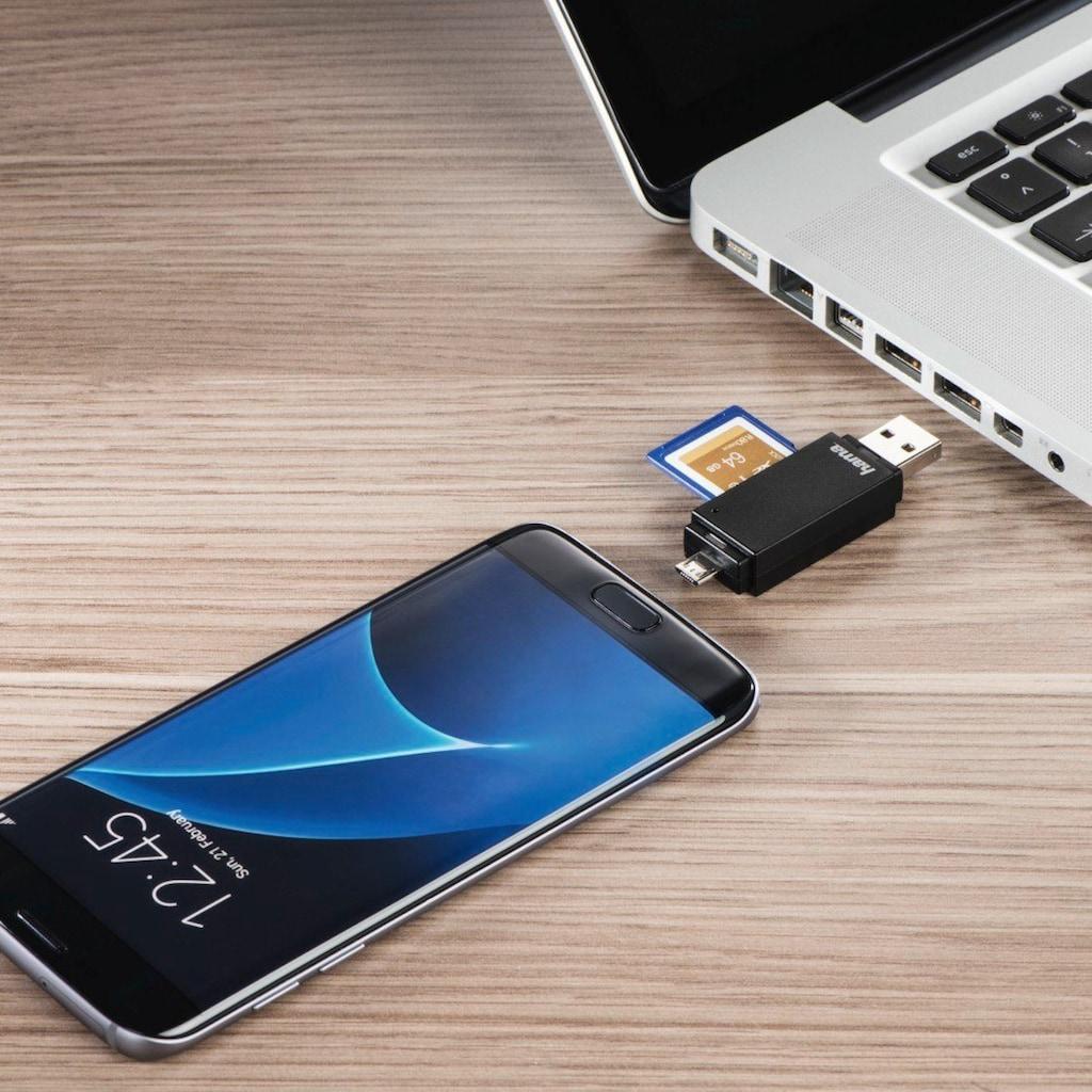"Hama USB-2.0-OTG-Kartenleser ""Basic"", SD/microSD, Schwarz"