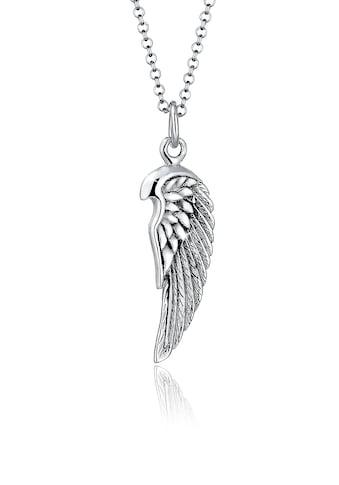Kuzzoi Silberkette »Herren Flügel Feder Boho 925 Silber« kaufen