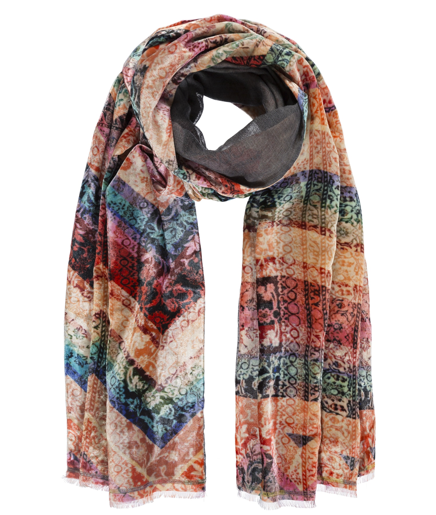 passigatti -  Schal, mit Digitalprint