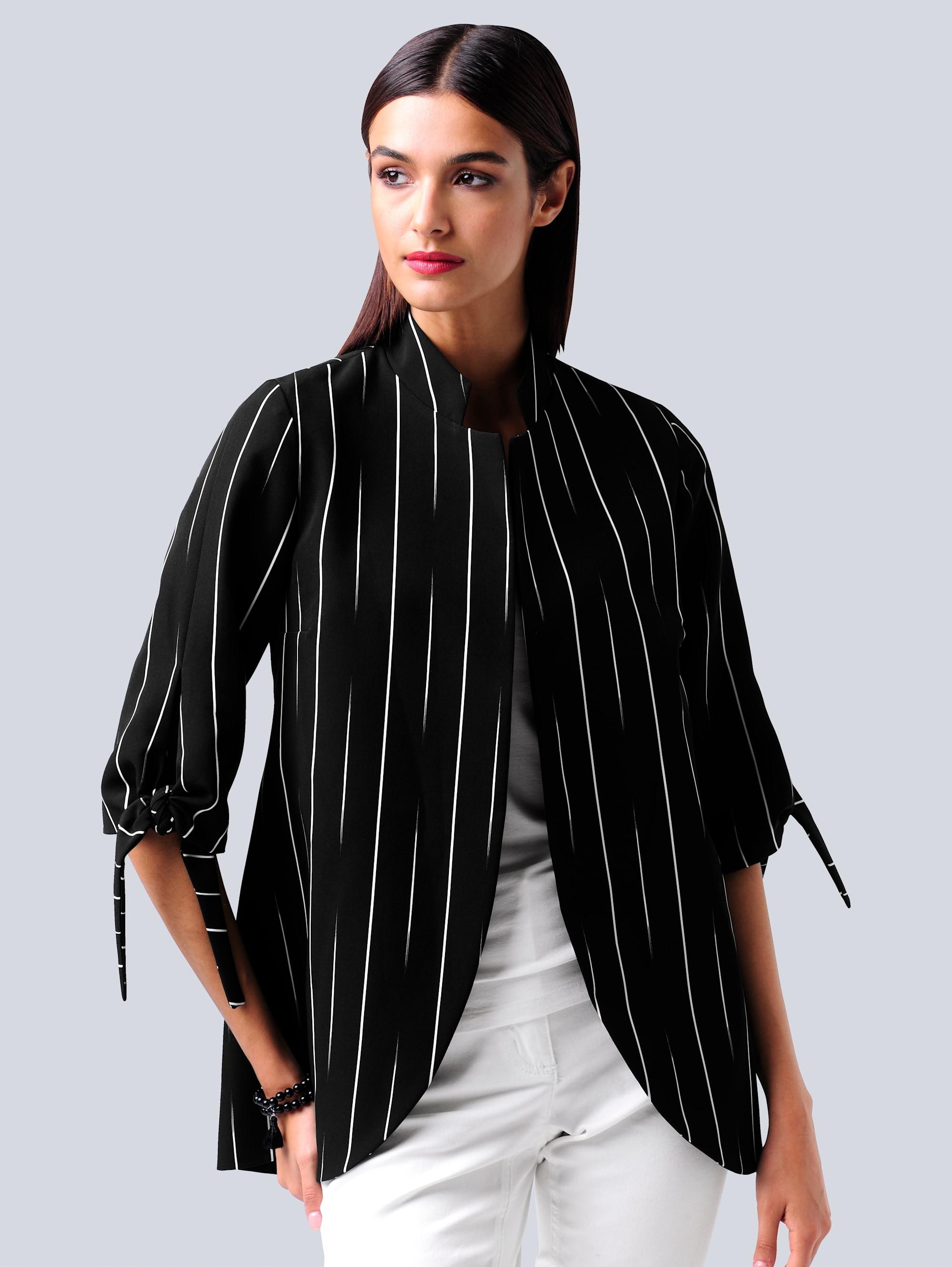 alba moda -  Longblazer, im abstrakten Streifendessin