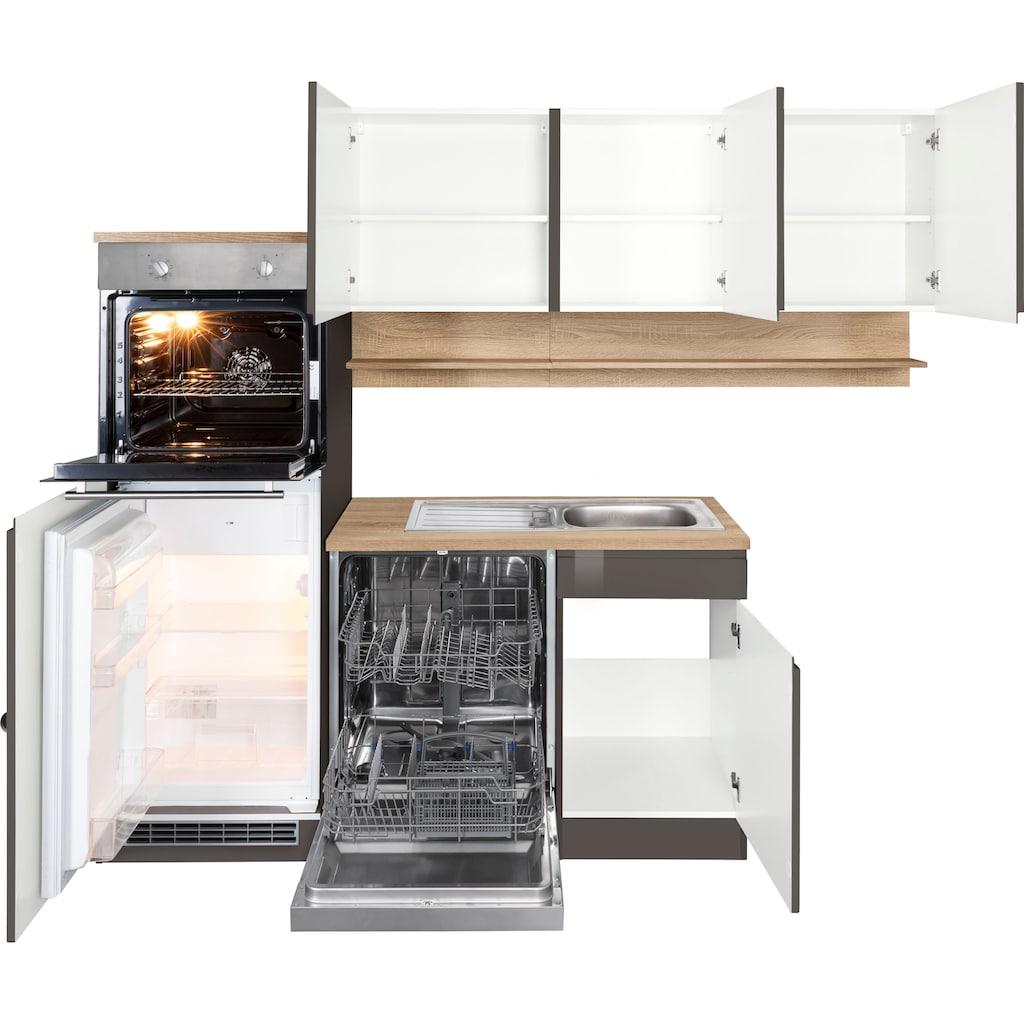 HELD MÖBEL Winkelküche »Virginia«, mit E-Geräten, Stellbreite 230/190 cm