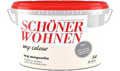 SCHÖNER WOHNEN FARBE Wand -  und Deckenfarbe »my colour  -  my magnolia«, matt, 5 l kaufen