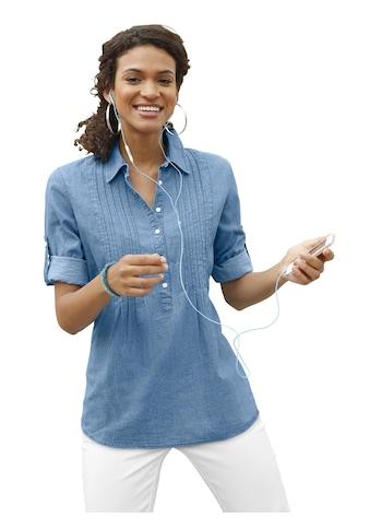 Casual Looks Bluse mit dekorativer Biesenverzierung kaufen