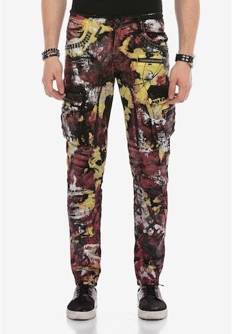 Cipo & Baxx Bequeme Jeans, mit Farbspritzer-Details kaufen