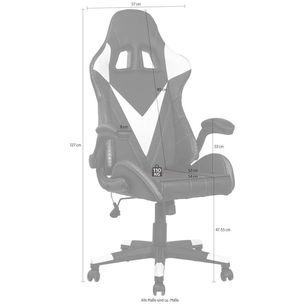 Homexperts Gaming Chair »Song«, Mit umlaufender LED RGB Beleuchtung