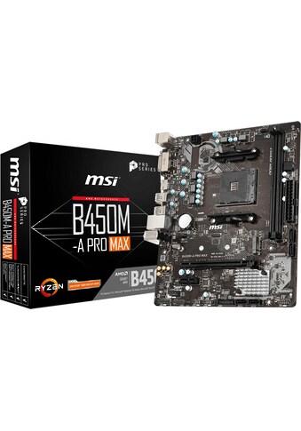 MSI Mainboard »B450M-A PRO MAX« kaufen