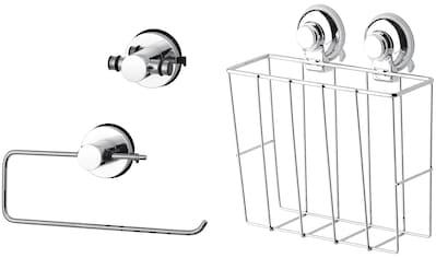 GSW Küchenorganizer-Set »HOOKIE System® 3-teilig«, (3 tlg.), intelligenter Saughaken kaufen