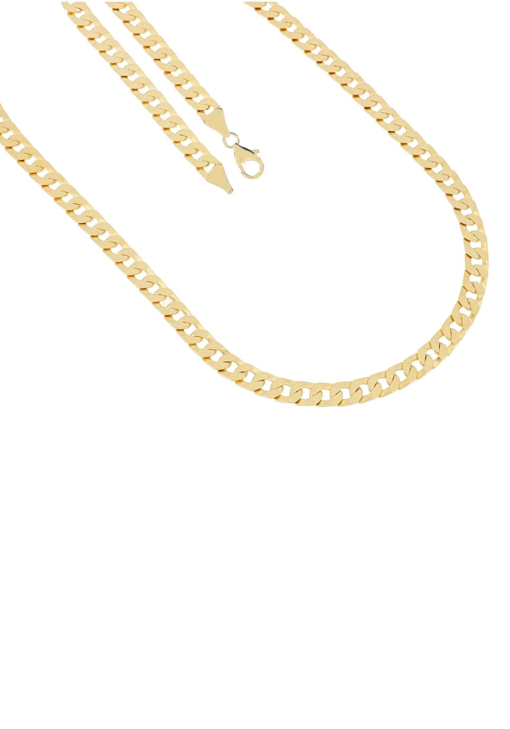 Firetti Kette ohne Anhänger in Panzerkettengliederung 70 mm glänzende Optik vergoldet 6-fach diamantiert | Schmuck > Halsketten | Firetti