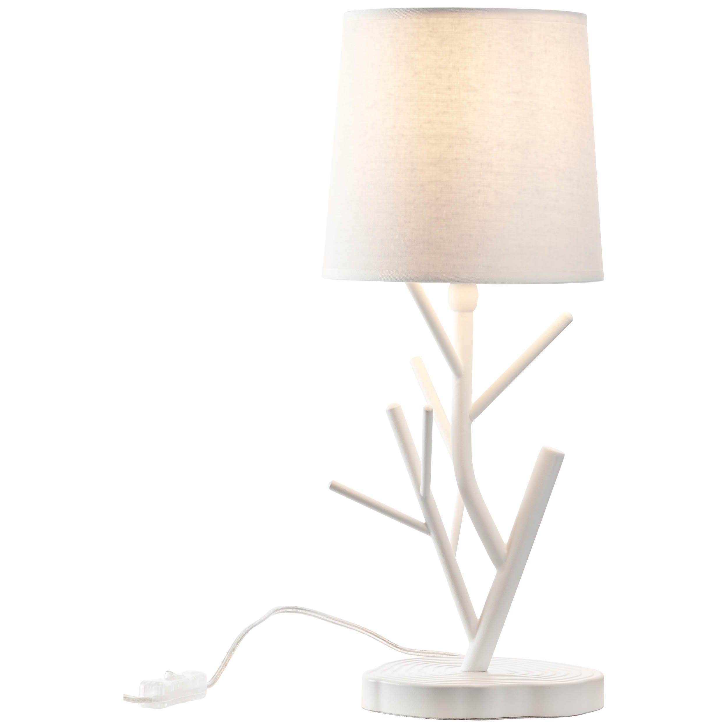 Brilliant Leuchten Faun Tischleuchte weiß