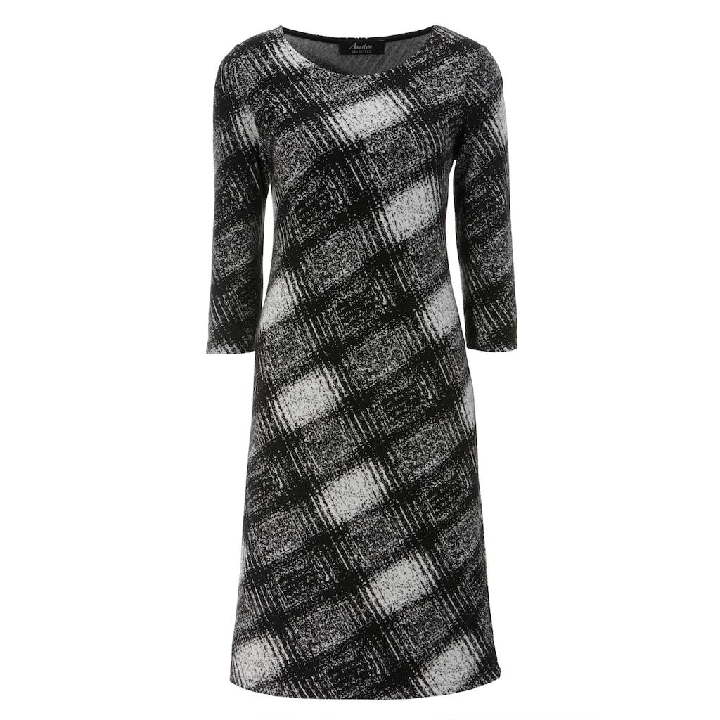 Aniston SELECTED Jerseykleid, elegant gemustert