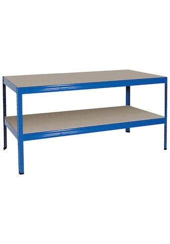 Werkbank, 1800x600x900 mm, Gesamttragkraft 700 kg, RAL 5010 enzianblau kaufen