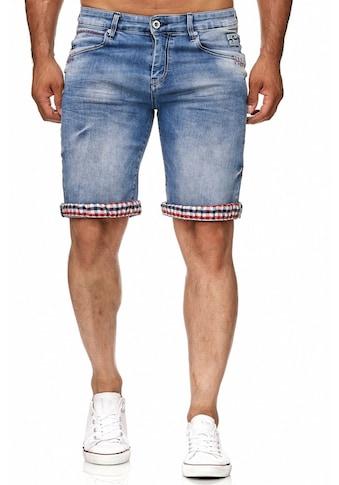 Rusty Neal Jeans - Shorts mit kariertem Innenfutter kaufen