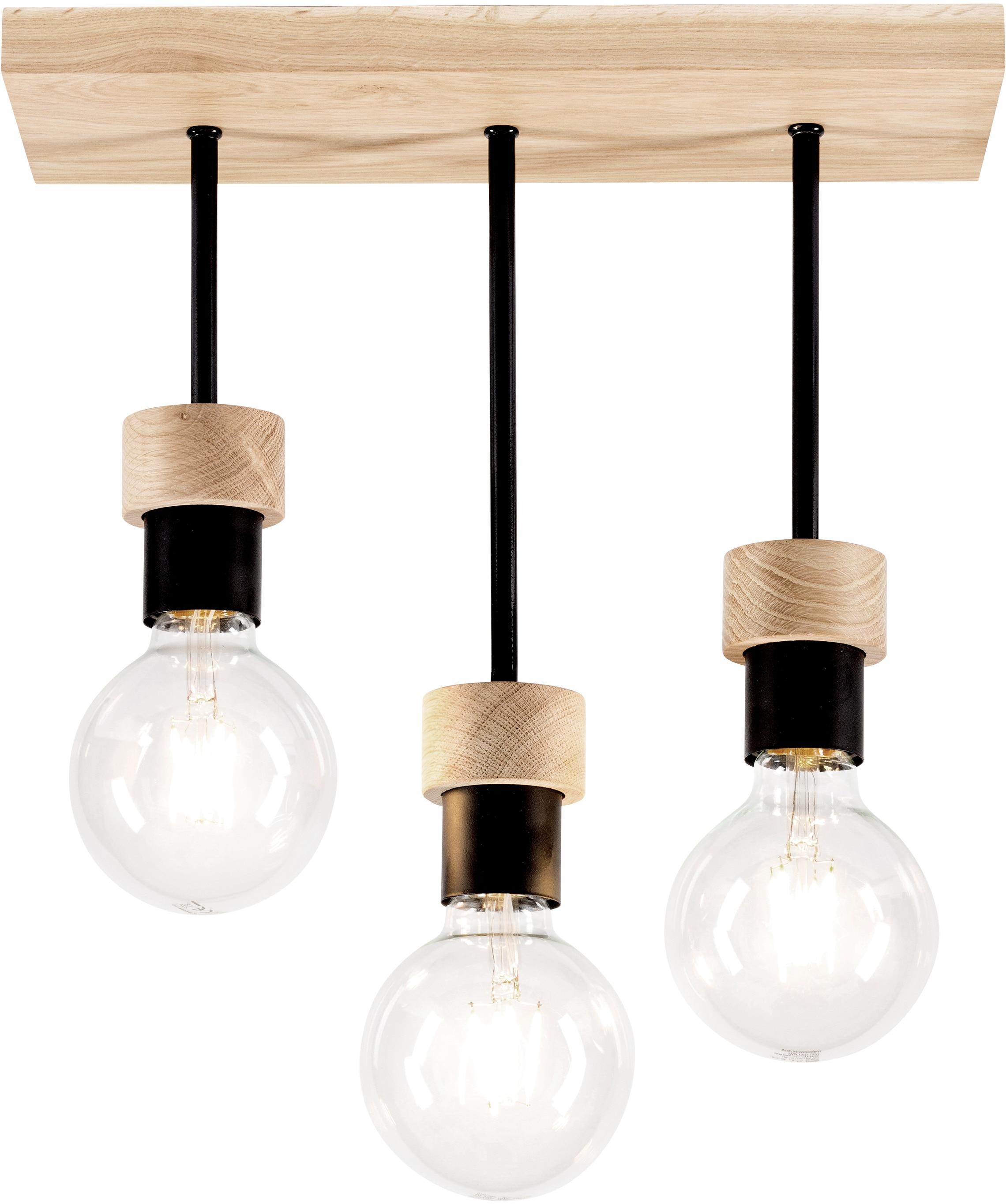 BRITOP LIGHTING Deckenleuchte CHANDELLE, E27, 1 St., Naturprodukt aus Eichenholz, Nachhaltig mit FSC-Zertifikat, passende LM E27/exclusive, Made in EU