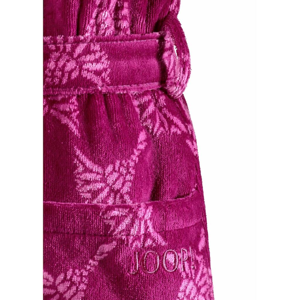 Joop! Damenbademantel »Cornflower Schalkragen«, (1 St.), mit Kornblumen-Muster
