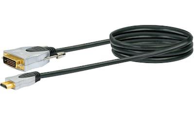 Schwaiger High Speed HDMI Adapterkabel mit Ethernet, Full HD »HDMI - Stecker > DVI Stecker« kaufen