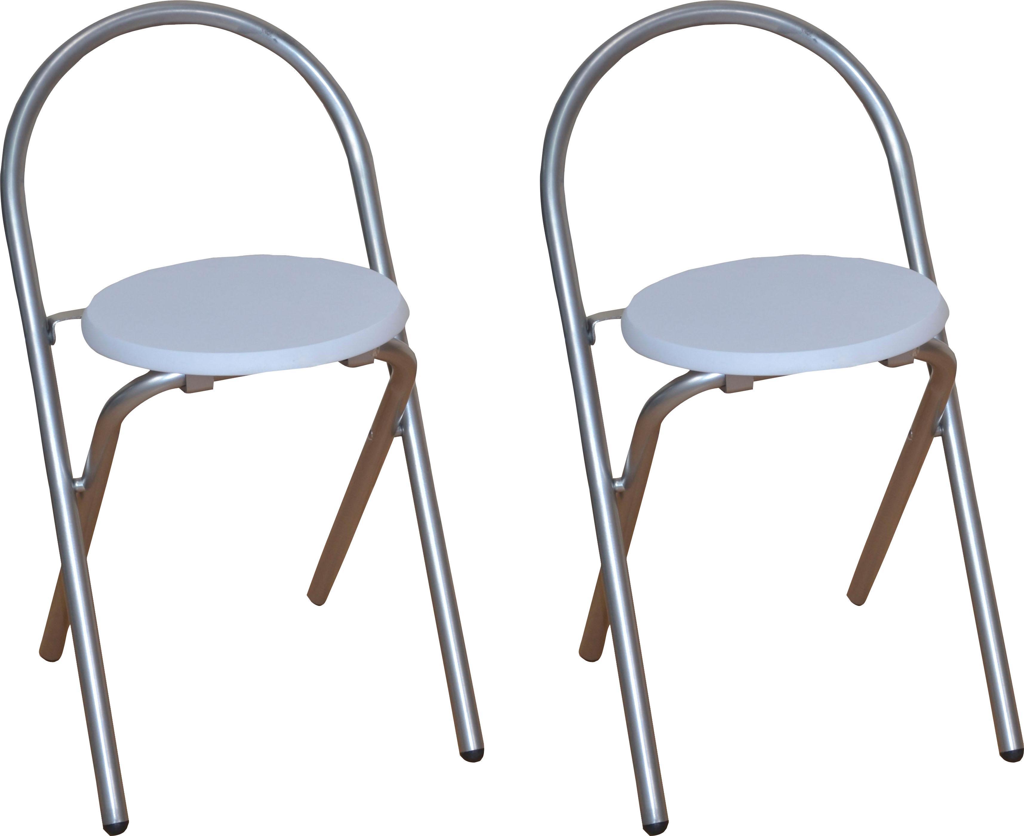 Home affaire Klappstuhl, aus MDF (2er-Set) weiß Klappstühle Weitere Stühle Sitzbänke Klappstuhl