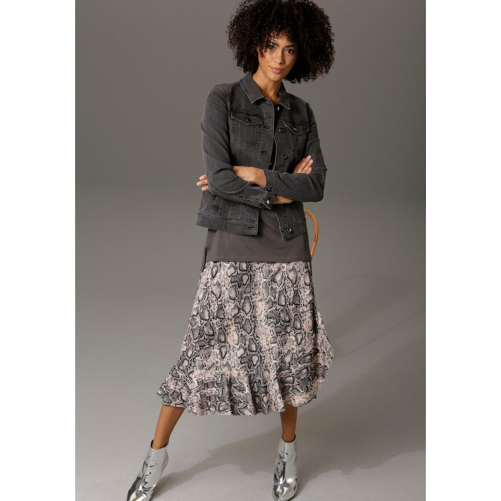 Aniston CASUAL Jeansjacke, in trendiger Stone-Waschung - NEUE KOLLEKTION