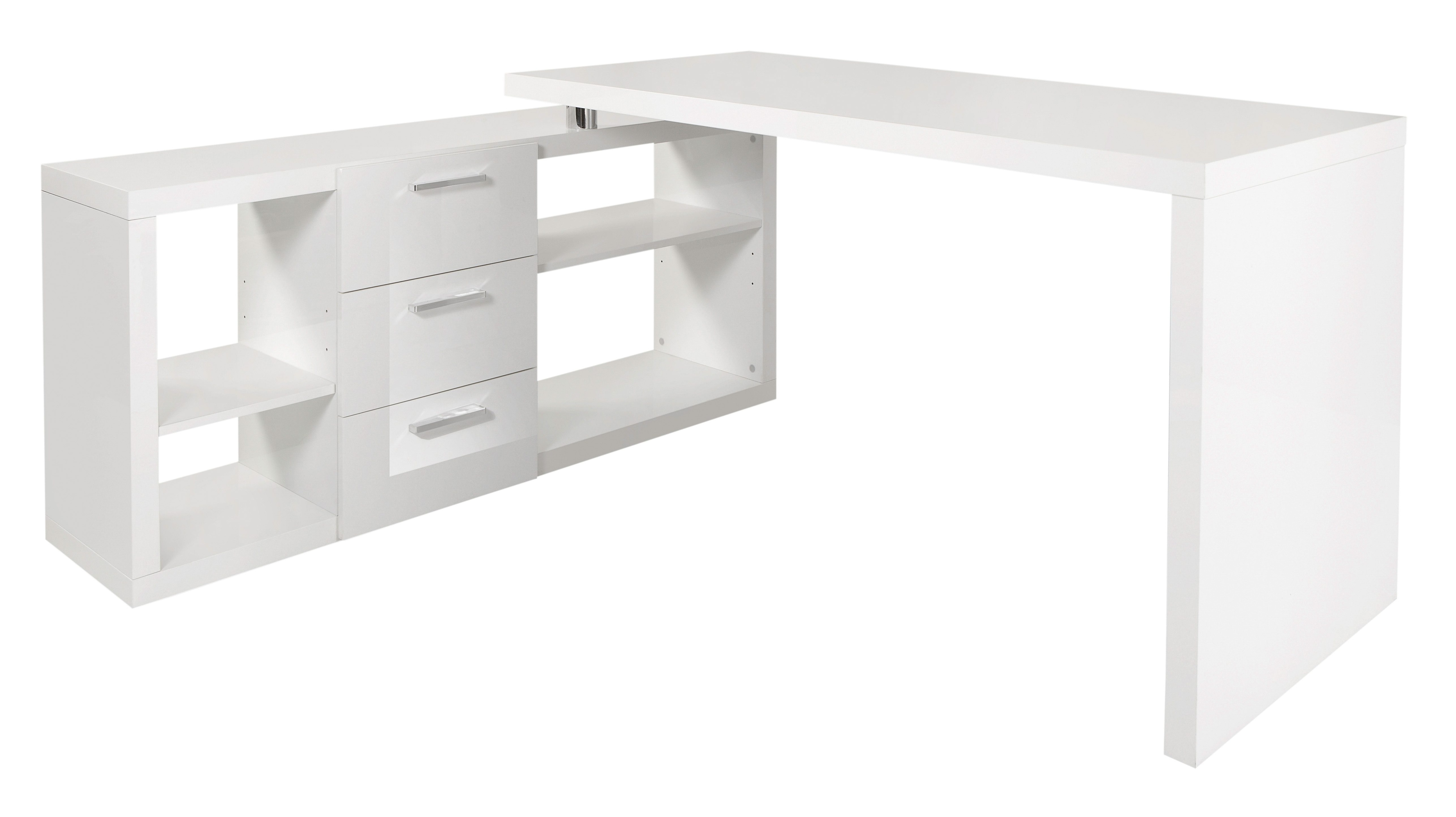 Eck-Schreibtisch HMW Kopenhagen mit Regalelement